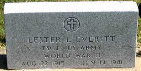 EVERITT, LESTER L. - Dundy County, Nebraska | LESTER L. EVERITT - Nebraska Gravestone Photos