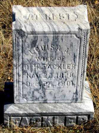 FACKLER, LOUISA A. - Dundy County, Nebraska | LOUISA A. FACKLER - Nebraska Gravestone Photos