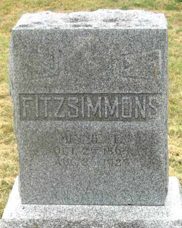 FITZSIMMONS, MINNIE - Dundy County, Nebraska | MINNIE FITZSIMMONS - Nebraska Gravestone Photos