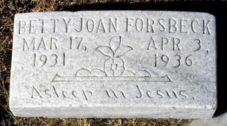 FORSBECK, BETTY JOAN - Dundy County, Nebraska   BETTY JOAN FORSBECK - Nebraska Gravestone Photos
