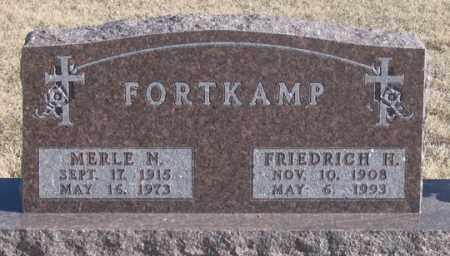 FORTKAMP, MERLE N. - Dundy County, Nebraska   MERLE N. FORTKAMP - Nebraska Gravestone Photos
