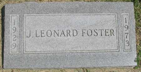 FOSTER, J. LEONARD - Dundy County, Nebraska | J. LEONARD FOSTER - Nebraska Gravestone Photos