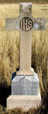 GANGNON, ALEX - Dundy County, Nebraska   ALEX GANGNON - Nebraska Gravestone Photos