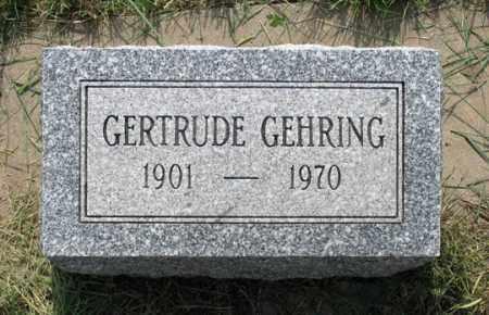 GEHRING, GERTRUDE - Dundy County, Nebraska | GERTRUDE GEHRING - Nebraska Gravestone Photos