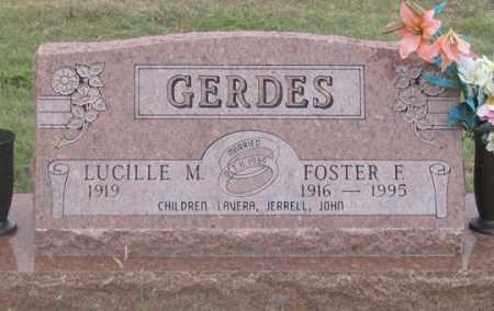 GERDES, FOSTER F. - Dundy County, Nebraska | FOSTER F. GERDES - Nebraska Gravestone Photos