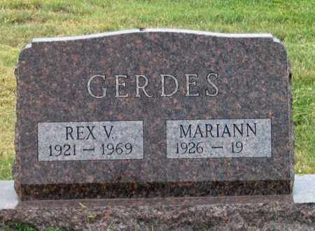 MARQUISSEE GERDES, MARIANN - Dundy County, Nebraska | MARIANN MARQUISSEE GERDES - Nebraska Gravestone Photos