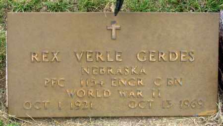 GERDES, REX VERLE - Dundy County, Nebraska | REX VERLE GERDES - Nebraska Gravestone Photos