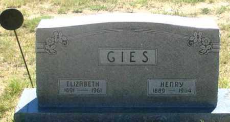 GIES, ELIZABETH - Dundy County, Nebraska | ELIZABETH GIES - Nebraska Gravestone Photos
