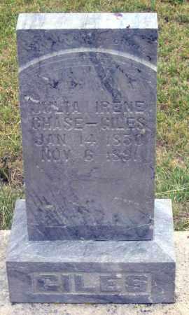 CHASE GILES, JULIA IRENE - Dundy County, Nebraska | JULIA IRENE CHASE GILES - Nebraska Gravestone Photos