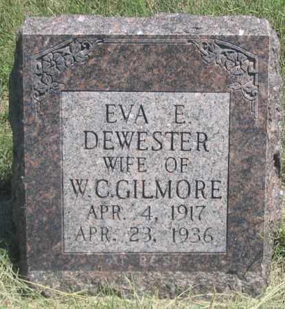 DEWESTER GILMORE, EVA E. - Dundy County, Nebraska   EVA E. DEWESTER GILMORE - Nebraska Gravestone Photos