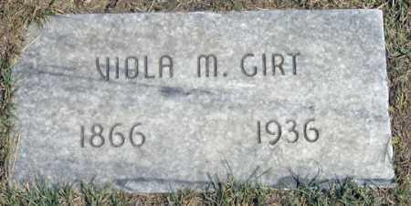 GIRT, VIOLA M. (VIOLET?) - Dundy County, Nebraska | VIOLA M. (VIOLET?) GIRT - Nebraska Gravestone Photos