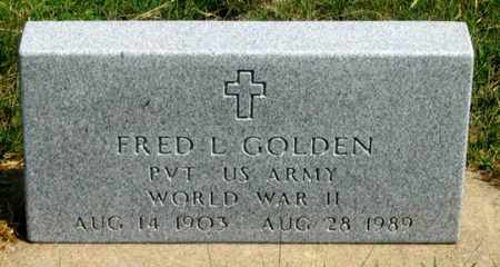 GOLDEN, FRED L. - Dundy County, Nebraska | FRED L. GOLDEN - Nebraska Gravestone Photos