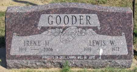 GOODER, LEWIS W. - Dundy County, Nebraska | LEWIS W. GOODER - Nebraska Gravestone Photos