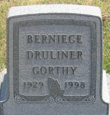DRULINER GORTHY, BERNIECE - Dundy County, Nebraska | BERNIECE DRULINER GORTHY - Nebraska Gravestone Photos