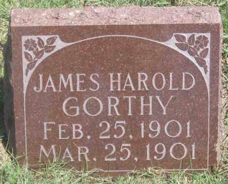 GORTHY, JAMES HAROLD - Dundy County, Nebraska | JAMES HAROLD GORTHY - Nebraska Gravestone Photos