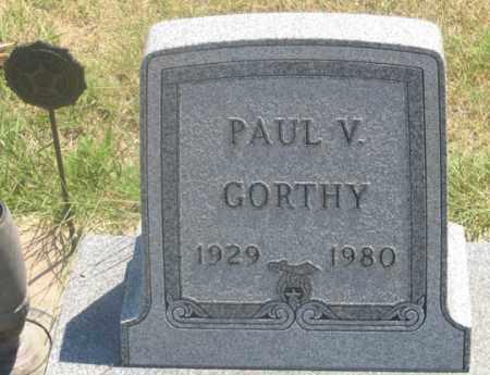 GORTHY, PAUL V. - Dundy County, Nebraska | PAUL V. GORTHY - Nebraska Gravestone Photos