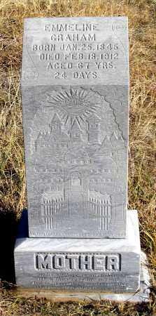 WARNER GRAHAM, EMMELINE - Dundy County, Nebraska | EMMELINE WARNER GRAHAM - Nebraska Gravestone Photos