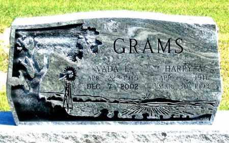 GRAMS, HARRY A. - Dundy County, Nebraska | HARRY A. GRAMS - Nebraska Gravestone Photos