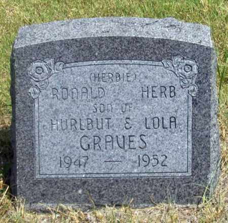 GRAVES, RONALD HERB (HERBIE) - Dundy County, Nebraska | RONALD HERB (HERBIE) GRAVES - Nebraska Gravestone Photos