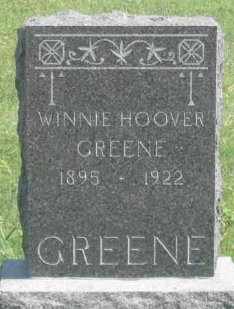HOOVER GREENE, WINNIE - Dundy County, Nebraska | WINNIE HOOVER GREENE - Nebraska Gravestone Photos