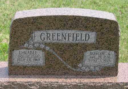 GREENFIELD, L. MABLE - Dundy County, Nebraska | L. MABLE GREENFIELD - Nebraska Gravestone Photos