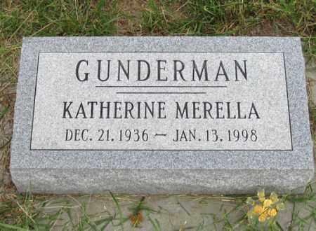 WARNOCK GUNDERMAN, KATHERINE MERELLA - Dundy County, Nebraska | KATHERINE MERELLA WARNOCK GUNDERMAN - Nebraska Gravestone Photos