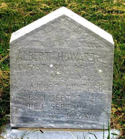 GUNTHER, ALBERT HOWARD - Dundy County, Nebraska | ALBERT HOWARD GUNTHER - Nebraska Gravestone Photos