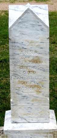 GUNTHER, ANNA - Dundy County, Nebraska | ANNA GUNTHER - Nebraska Gravestone Photos