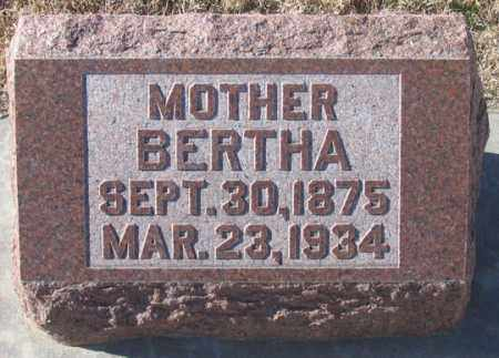 HUPE HAARBERG, BERTHA - Dundy County, Nebraska | BERTHA HUPE HAARBERG - Nebraska Gravestone Photos