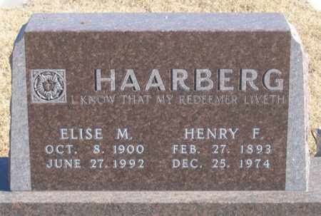 HAARBERG, HENRY F. - Dundy County, Nebraska | HENRY F. HAARBERG - Nebraska Gravestone Photos