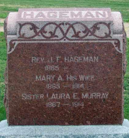 HERREL HAGEMAN, MARY A. - Dundy County, Nebraska | MARY A. HERREL HAGEMAN - Nebraska Gravestone Photos