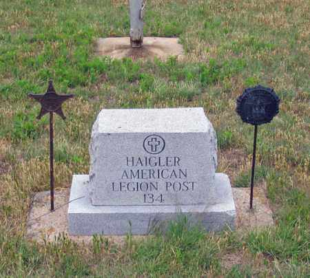*HAIGLER CEMETERY, AMERICAN LEGION - Dundy County, Nebraska   AMERICAN LEGION *HAIGLER CEMETERY - Nebraska Gravestone Photos