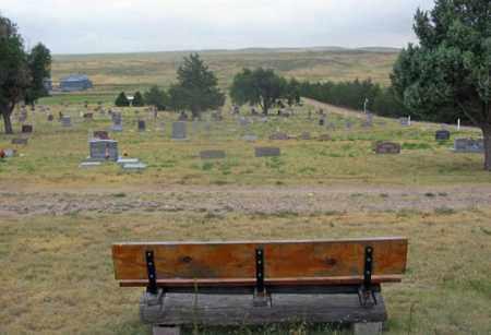 *HAIGLER CEMETERY, BENCH VIEW - Dundy County, Nebraska | BENCH VIEW *HAIGLER CEMETERY - Nebraska Gravestone Photos