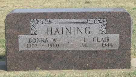 HAINING, BONNA W. - Dundy County, Nebraska | BONNA W. HAINING - Nebraska Gravestone Photos