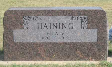 SNOKE HAINING, ELLA V. - Dundy County, Nebraska   ELLA V. SNOKE HAINING - Nebraska Gravestone Photos