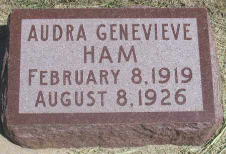 HAM, AUDRA GENEVIEVE - Dundy County, Nebraska | AUDRA GENEVIEVE HAM - Nebraska Gravestone Photos
