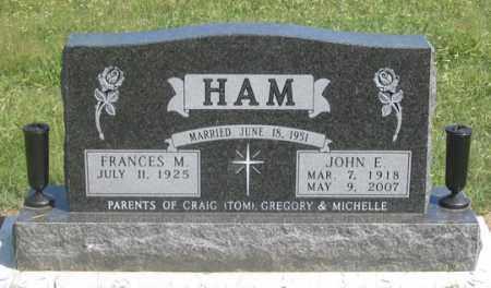 HAM, FRANCES M. - Dundy County, Nebraska   FRANCES M. HAM - Nebraska Gravestone Photos