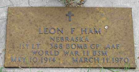 HAM, LEON F. - Dundy County, Nebraska | LEON F. HAM - Nebraska Gravestone Photos