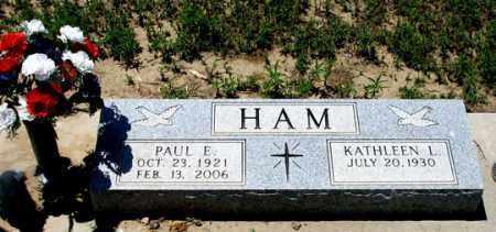 HAM, PAUL E. - Dundy County, Nebraska   PAUL E. HAM - Nebraska Gravestone Photos