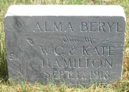HAMILTON, ALMA BERYL - Dundy County, Nebraska | ALMA BERYL HAMILTON - Nebraska Gravestone Photos