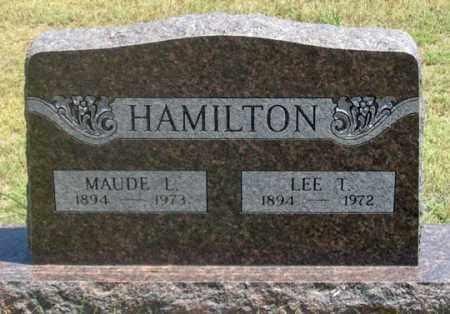 DAVIS HAMILTON, MAUDE L. - Dundy County, Nebraska | MAUDE L. DAVIS HAMILTON - Nebraska Gravestone Photos