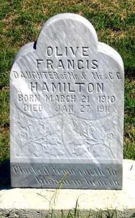 HAMILTON, OLIVE FRANCIS - Dundy County, Nebraska   OLIVE FRANCIS HAMILTON - Nebraska Gravestone Photos