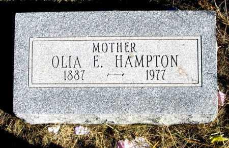 HAMPTON, OLIA E. - Dundy County, Nebraska | OLIA E. HAMPTON - Nebraska Gravestone Photos