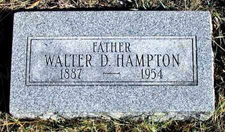 HAMPTON, WALTER D. - Dundy County, Nebraska | WALTER D. HAMPTON - Nebraska Gravestone Photos