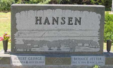 PEASE HANSEN, BERNICE  JETTER - Dundy County, Nebraska | BERNICE  JETTER PEASE HANSEN - Nebraska Gravestone Photos