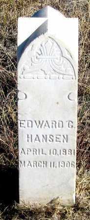 HANSEN, EDWARD C. - Dundy County, Nebraska | EDWARD C. HANSEN - Nebraska Gravestone Photos