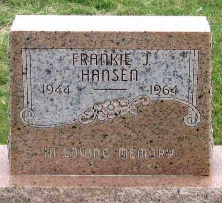 HANSEN, FRANKIE J. - Dundy County, Nebraska | FRANKIE J. HANSEN - Nebraska Gravestone Photos