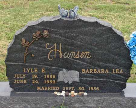 HANSEN, LYLE E. - Dundy County, Nebraska | LYLE E. HANSEN - Nebraska Gravestone Photos