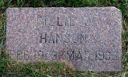 HANSON, BILLIE C. - Dundy County, Nebraska   BILLIE C. HANSON - Nebraska Gravestone Photos