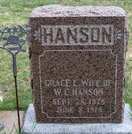 HANSON, GRACE E. - Dundy County, Nebraska | GRACE E. HANSON - Nebraska Gravestone Photos